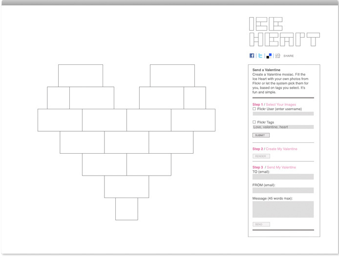 Ice Heart Branding Project Ps New York
